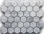 BIANCO CARRARA HEX POLISHED MOSAIC