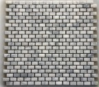 BIANCO CARRARA BRICK HONED MOSAIC