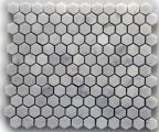 BIANCO CARRARA HEX HONED MOSAIC
