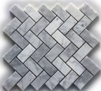 CARRARA LIGHT GREY ZIG-ZAG POLISHED MOSAIC