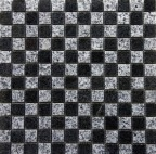 AUS BLACK/GREY CHECK POLISHED MOSAIC